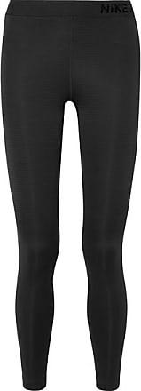 Nike Pro Warm Mesh-paneled Stretch Leggings - Black