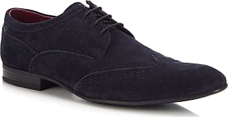 Base London Purcell Suede Lace Up Brogue | Navy (Navy Blue, Numeric_10)