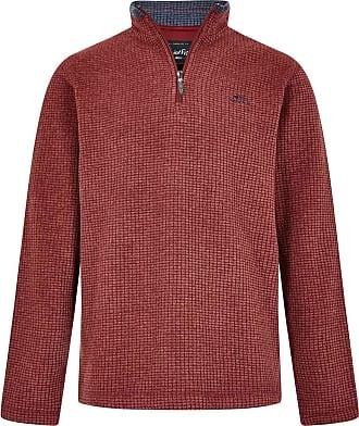 Weird Fish Newark 1/4 Zip Grid Fleece Sweatshirt Henna Size 2XL