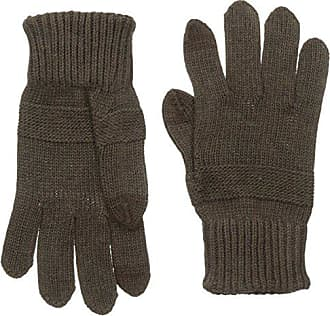 Haggar Mens Tonal Strip Knit Glove, Brown, One Size