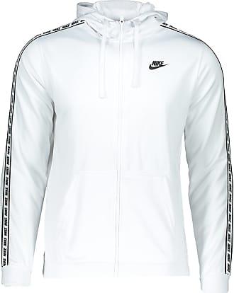 Nike Sweatjacke weiß / schwarz