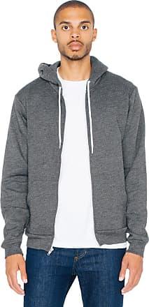 American Apparel F497 Flex Fleece Zip Hoodie XXL 1 Dark Heather Grey 1 Mauve