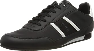 BOSS Mens Lighter_Lowp_nyrs Low-Top Sneakers, Black (Black 1), 9 UK