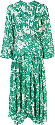 Alexis Vestido midi com estampa floral - Verde