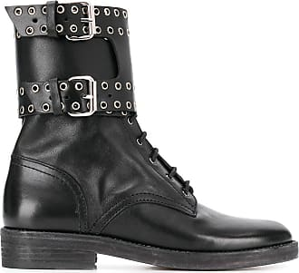 Isabel Marant Ankle boot com ilhós - Preto