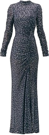 Jonathan Simkhai Sequinned High-neck Gown - Womens - Navy