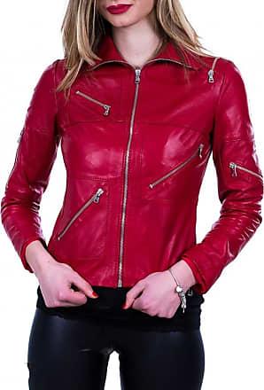 Leather Trend Italy Nolita - Giacca Donna in Vera Pelle morbida color Rosso