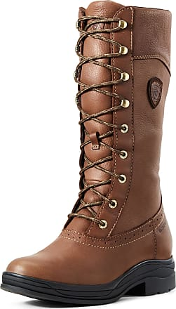 Ariat Womens Wythburn Waterproof Boots in Brick Leather, B Medium Width, Size 8.5, by Ariat