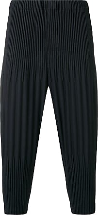 Homme Plissé Issey Miyake pleated drop crotch trousers - Blue