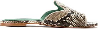 Blue Bird Shoes Mule Exótico de couro python - Cinza