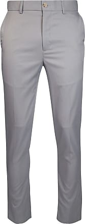 Glenmuir Mens Lightweight Performance Golf Trousers Light Grey Regular 42
