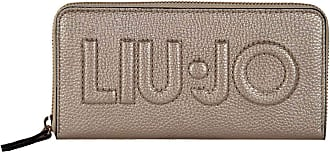 Liu Jo Womens Wallet - Zip Around XL, Wallet, Logo, PU Leather, 10x19x2, 5cm (Height x Width x Depth) - Bright Gold, One Size Fits All