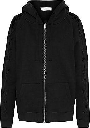 Iro Iro Woman Nazko Lace-up Cotton-jersey Hooded Jacket Black Size XS