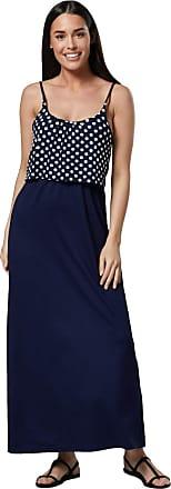 Happy Mama Womens Maternity Nursing Maxi Empire Waist Straps Long Dress 009p (Navy dots with Navy, UK 16/18, 2XL)