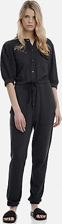 Sugarfree Dark grey cotton jumpsuit with buttons