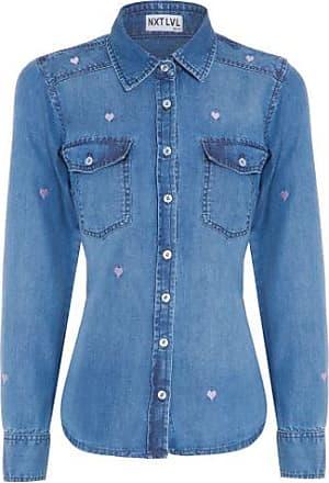 Iorane Camisa Jeans Heart Iorane NXT LVL - Azul