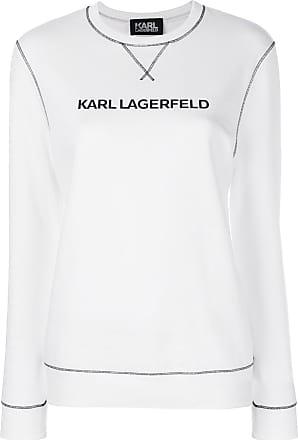 Karl Lagerfeld Blusa de moletom Karls Essential - Branco