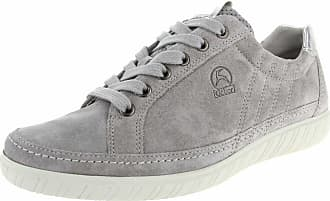 6a6405e1689 Gabor Amulet Wide Fit Sneaker 7 Grey Suede Argento
