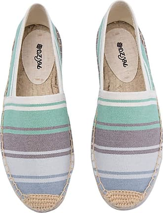 ICEGREY Womens Causal Loafer Flat Slip On Espadrille Multicoloured UK 3.5