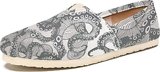 Tizorax Octopus Beard Mens Slip on Loafers Casual Canvas Shoe Flat Boat Shoes