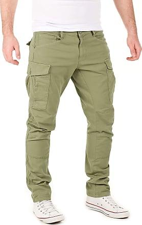 Yazubi Mens Casual Cargo Trousers Chino Jayden Chino Men Casual Cargo Pants Slim Fit Jogger Skinny, Dusky Green (170517), W32/L34
