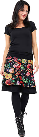 3Elfen Skirt a Linie Ladies - Knee Long Fahion Designed, Classic Double Style - Summer Woman Clothing Skirts - Jungle Flower XL