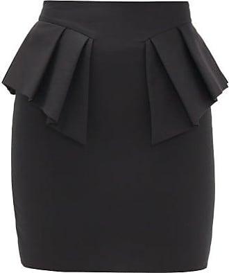 Alexandre Vauthier Peplum-waist Cotton Mini Skirt - Womens - Black