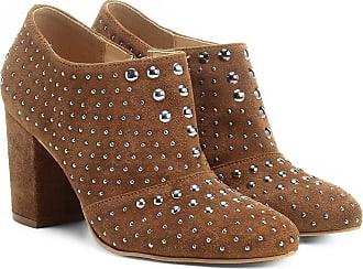 Shoestock Ankle Boot Couro Shoestock Salto Grosso Hot Fix - Feminino d3802c0862