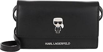 Karl Lagerfeld Ikonik Pin Black Umhängetasche schwarz