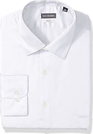 Van Heusen Mens Size Big Lux Sateen Stretch Solid Tall Fit, White, 22 Neck 37-38 Sleeve