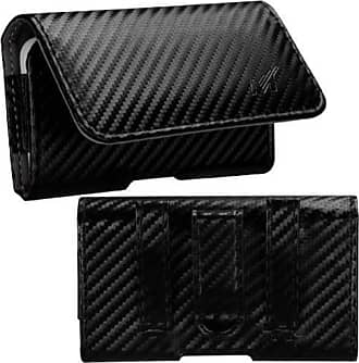 Mundaze Mundaze Carbon Fiber Look Belt Clip Pouch Case for Samsung Galaxy S5