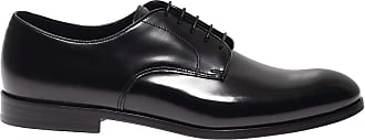 Doucal's Brushed Leather Derby Shoes, 43.5 Black