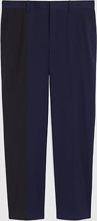Neil Barrett Bi-colour Fine Stretch Cotton Slim Trousers