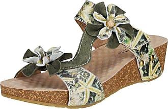 Laura Vita 1737 Bingo Sandals with Barefoot Design Green Green Size: 2 UK