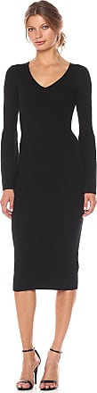 French Connection Womens Virgie Knits Dress, Black, 8