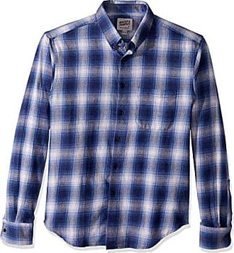7ce507628d4 Naked   Famous Denim Mens Regular Shirt-Ombre Flannel-Blue
