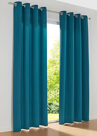 Bonprix Mikrofaser Vorhang (2er Pack) blau, bonprix