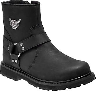 Harley Davidson /'Kira/' Ladies Black Leather Western Cowboy Style Biker Boots