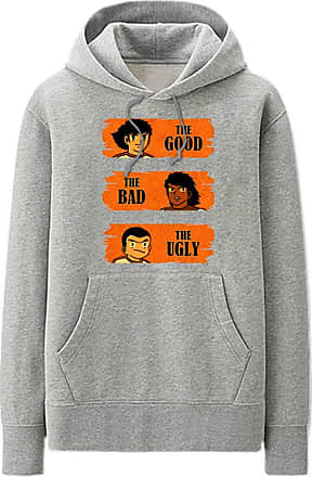 Haililais Captain Tsubasa Pullover Hoodie Plus Velvet Long Sleeve Tops Popular Sweatshirt Leisure Printed Pullover with Pocket Unisex (Color : Grey01, Size : He