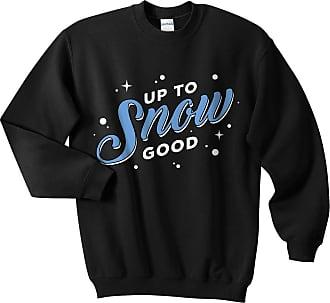 Sanfran Clothing Sanfran - Up to Snow Good Top Christmas Xmas Funny Retro Apres Ski Ugly Jumper Sweater - Age 12-14 / Black