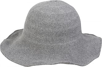 styleBREAKER Creased Knit-Look Fedora, Knitted hat, hat, Women 04025016, Color:Light Grey