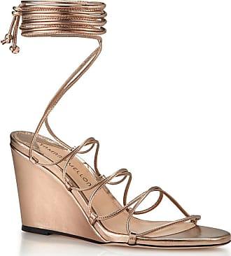 Tamara Mellon Allegra Blush Nappa Laminata Sandals, Size - 35.5