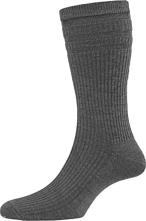 Hj Hall 2 Pair Pack Mens Softop Original Non Elastic Socks Cotton Rich With Ventilate