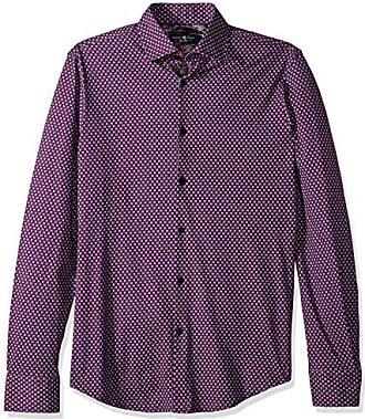 a4b71f5f01e Stone Rose Mens Long Sleeve Geometric Knit Shirt