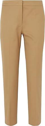 Jil Sander Cotton-twill Straight-leg Pants - Beige