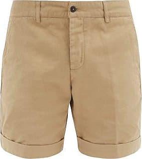 Ami Ami - Turn-up Cuff Cotton-twill Shorts - Mens - Beige