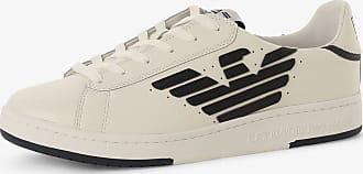 Emporio Armani Herren Sneaker aus Leder weiss