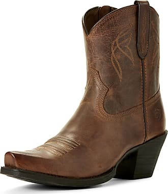 Ariat Womens Lovely Western Boots in Sassy Brown Leather, B Medium Width, Size 3.5, by Ariat