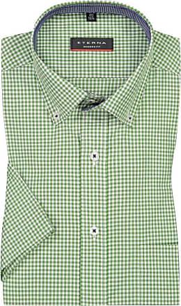 Eterna Kurzarmhemd mit Brusttasche, Modern Fit von Eterna in Gruen für Herren