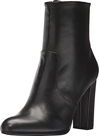 95580b16d46 Steve Madden Womens Editor Ankle Boot Black Leather 10 M US